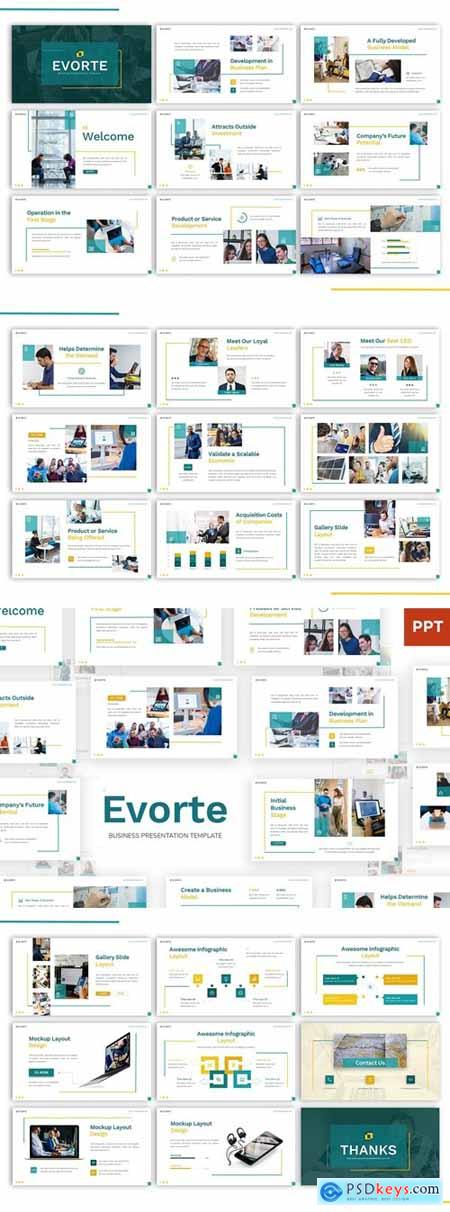 Evorte - Business Powerpoint, Keynote and Google Slides Templates