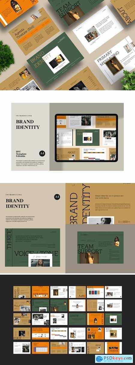 Brand Identity Business Powerpoint, Keynote and Google Slides Templates