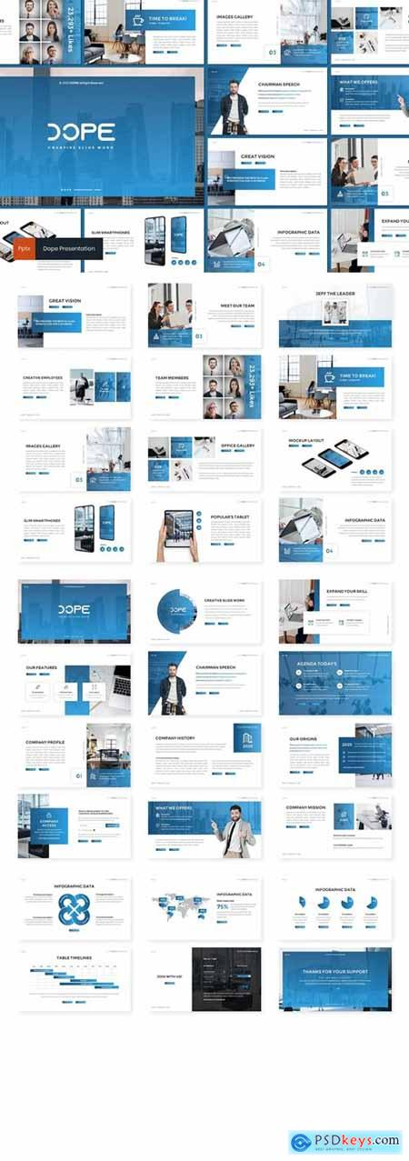 Dope - Creative Powerpoint, Keynote and Google Slides Templates