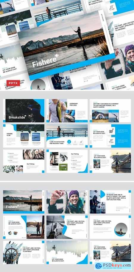Pisher Powerpoint, Keynote and Google Slides Templates
