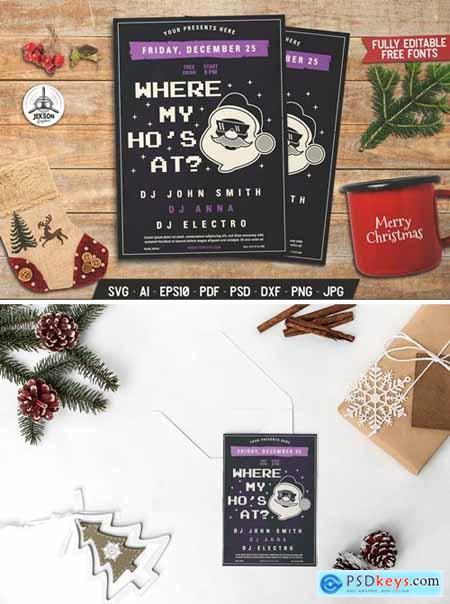 Christmas Santa Party Flyer