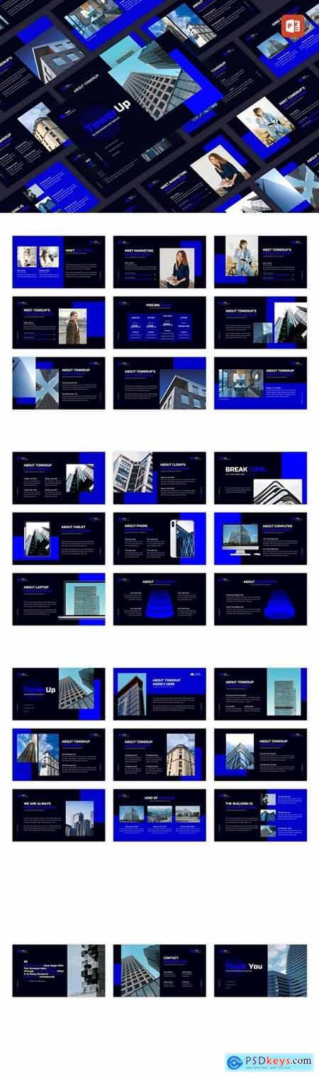 Towerup - Building Property Powerpoint, Keynote and Google Slides Templates
