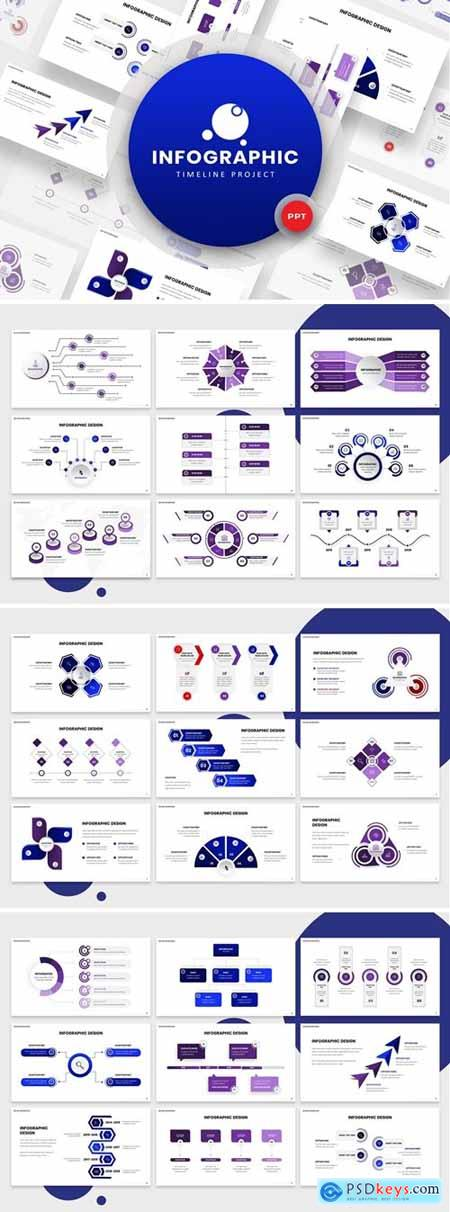 Timeline Infographic Powerpoint, Keynote and Google Slides Templates