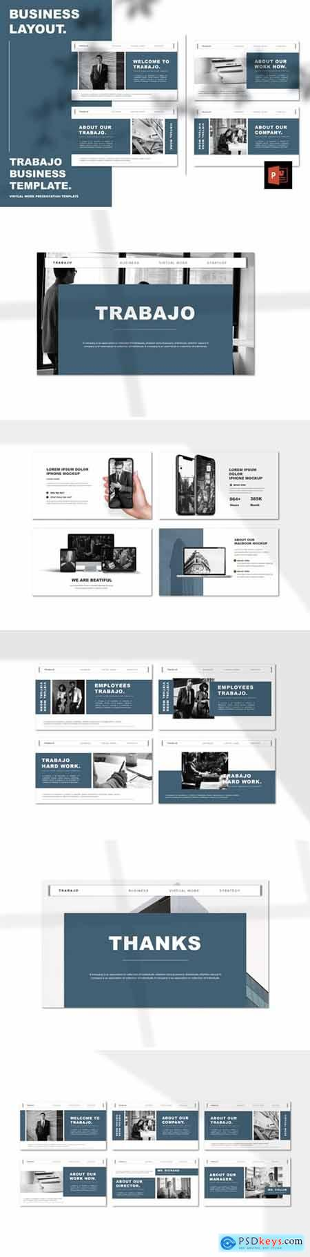 Trabajo - Work From Home Powerpoint, Keynote and Google Slides Templates