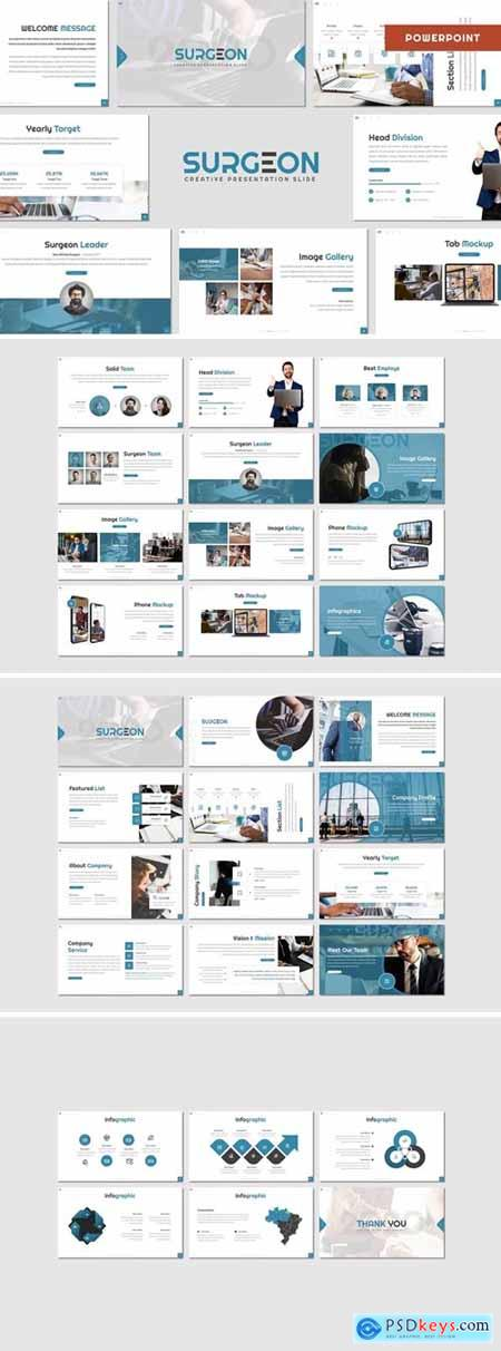 Surgeon - Business Powerpoint, Keynote and Google Slides Templates