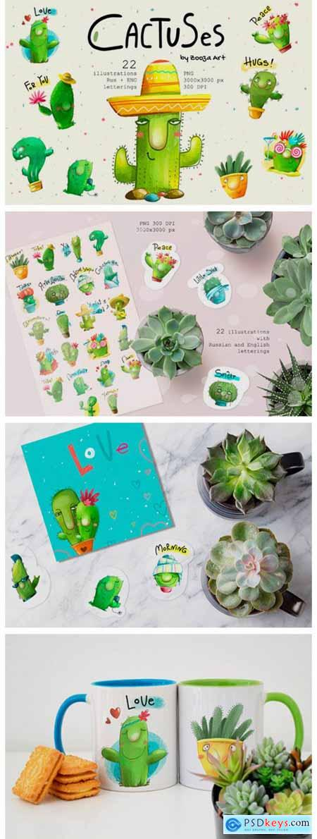 Cactus Watercolor Illustrations 5636950