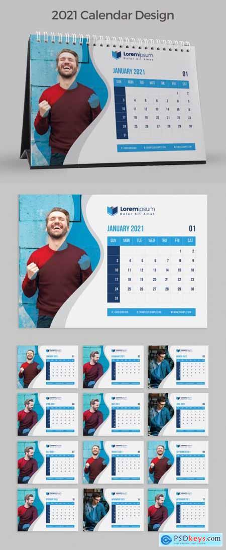 Clean Desk Calendar for 2021 383387770