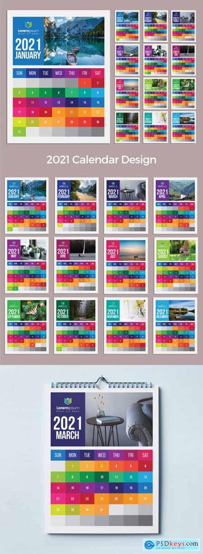 Colorful Wall Calendar 2021 383387902