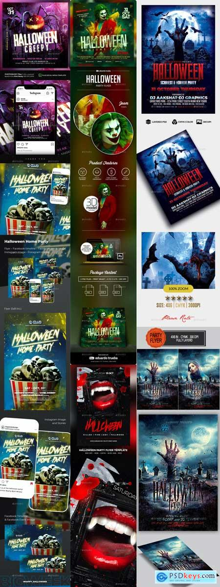 Halloween Flyer Templates Vip 13-OCT-2020 PREVIEW