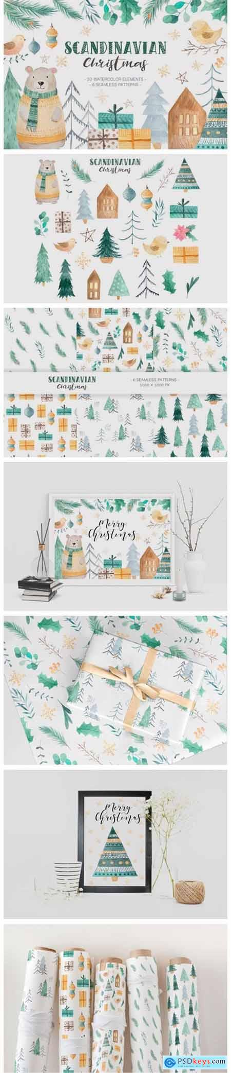 Scandinavian Watercolor Christmas 6011128