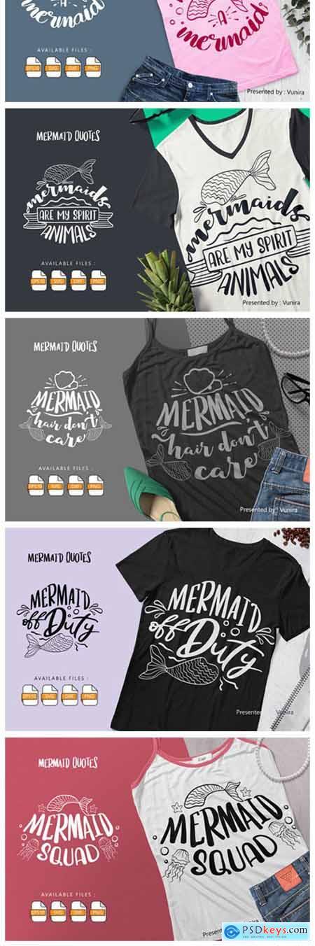 10 Mermaid Bundle - Lettering Quotes 6037529
