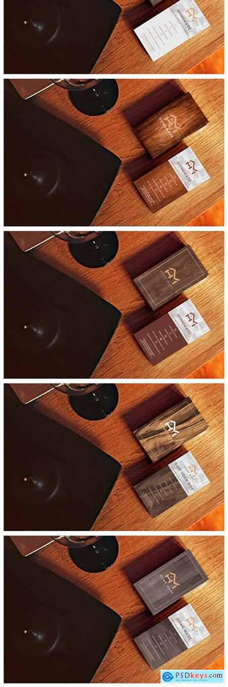 Wooden Business Card Pack [Vertical] 6039066