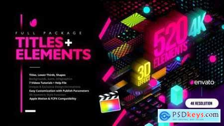 Modern Pack of Titles and Elements for FCPX 4K 28907886