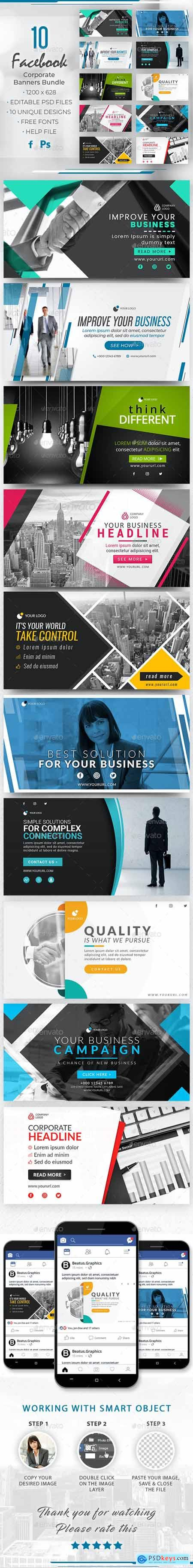 Facebook Corporate Banners Bundle 28285568