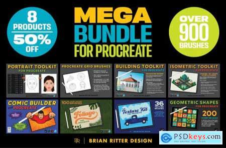 Mega Bundle for Procreate 5467662