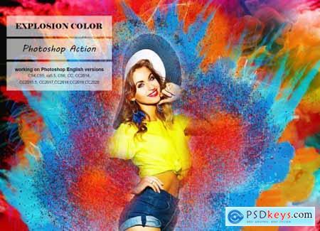 Explosion Color Photoshop Action 5247557