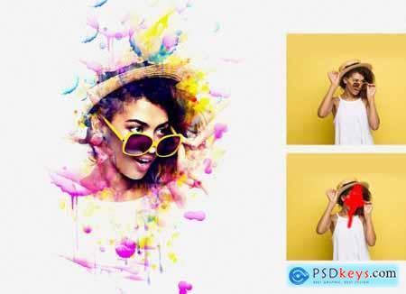 Portrait Watercolor Photoshop Action 5204400