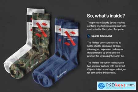 Sports Socks - Mockup 5462046