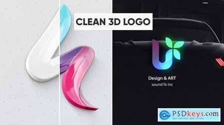 Clean 3D Logo 28411734