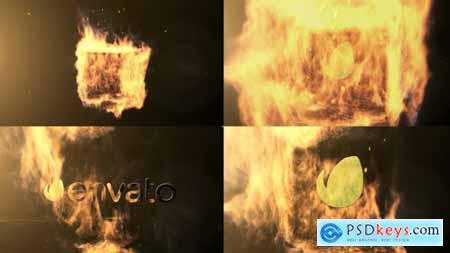 Qube Fire Logo Reveal 9491331