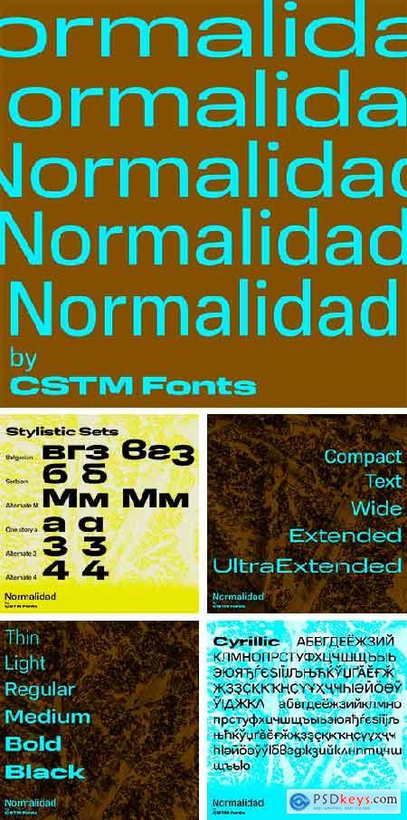 Normalidad Font Family