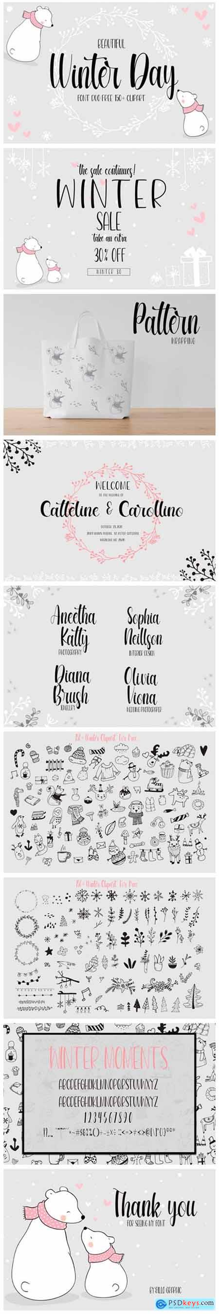 Beautiful Winter Day Font