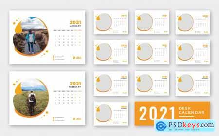 Desk calendar 2021 print ready template256