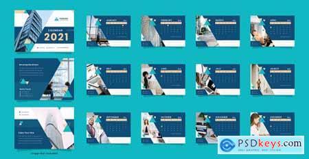 Corporate business desk calendar template 2021