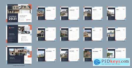 Real estate desk calendar 2021 template
