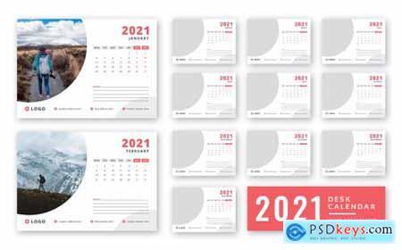 Desk calendar 2021 print ready template335