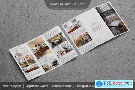 Amazing realistic trifold brochure or flyer mockup