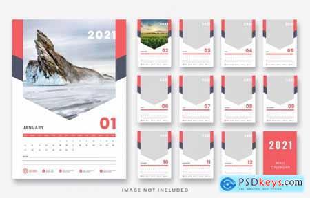 2021 wall calendar template design455