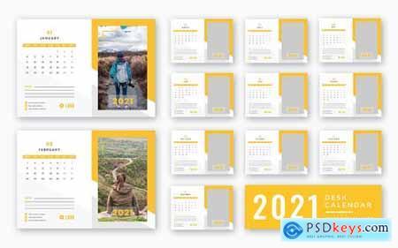Desk calendar 2021 print ready template