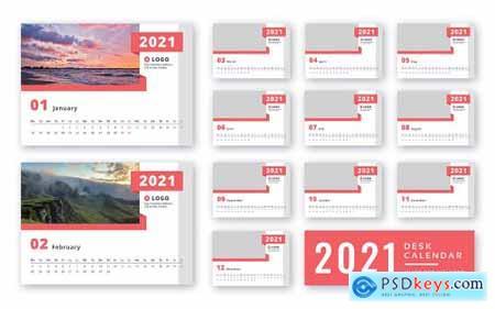 Desk calendar 2021 print ready template224