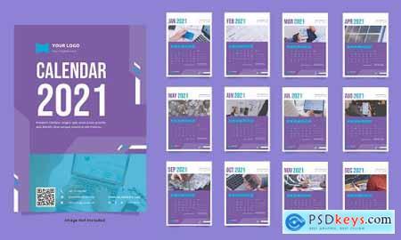 Finance wall calendar template