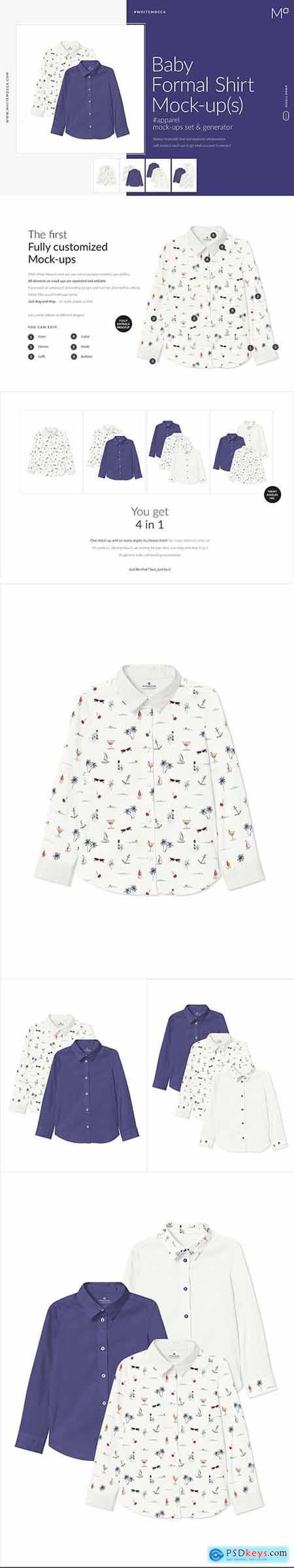 Baby Formal Shirt Mock-ups Set 4543370