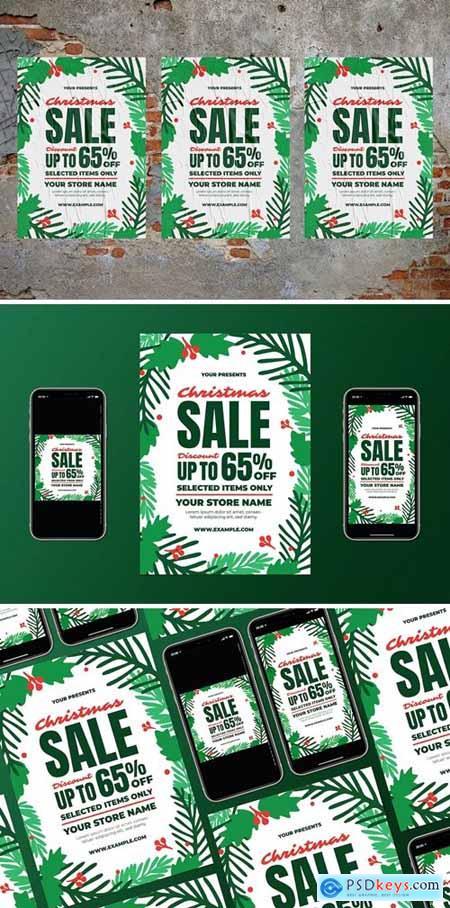 Christmas Sale Flyer Set307