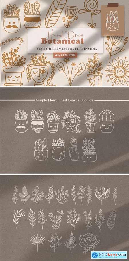 Botanical Line Art Illustration Vol.3