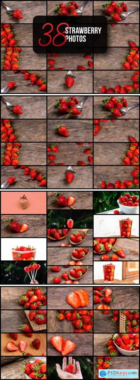 Set of 38 Strawberry Photos 6089672