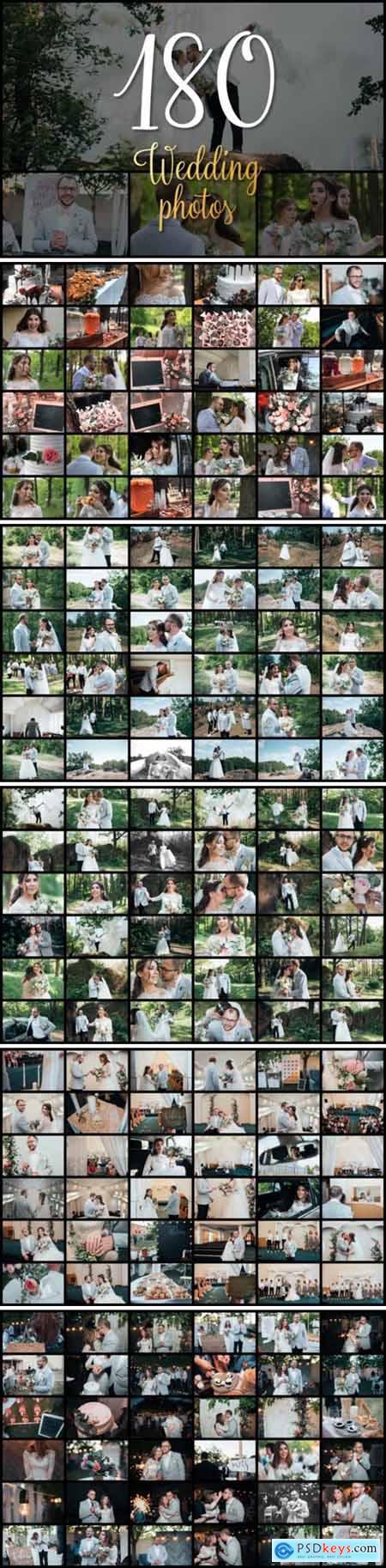 Set of 180 Wedding Photos 6089718