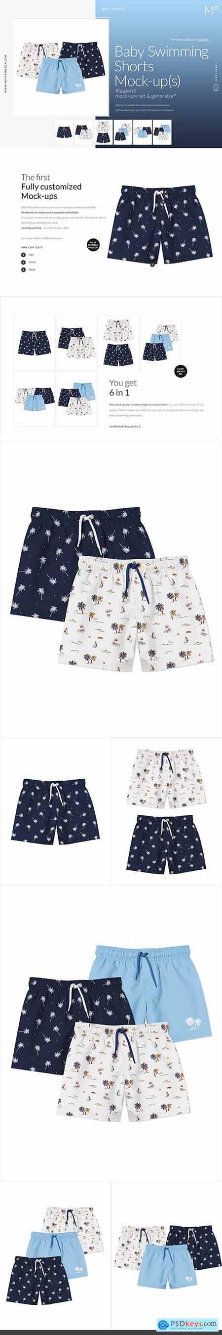 Baby Swimming Shorts Mock-ups Set 5170892