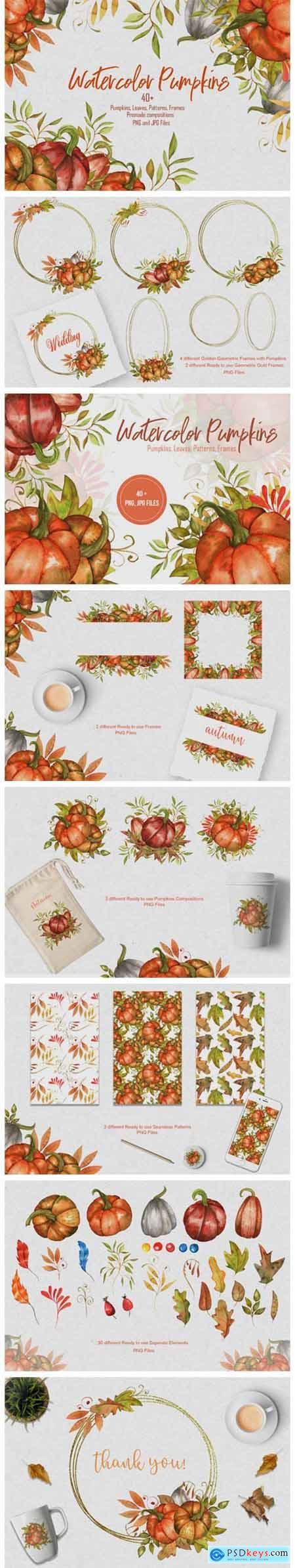 Watercolor Pumpkins Collection 6098658