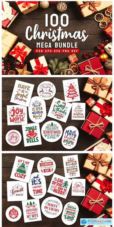 Christmas Bundle SVG Typography 6066887
