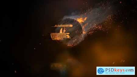 Rotating Fire Logo Reveal 23438890