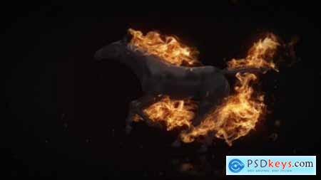 Flamming Horse Logo Reveal 22216625