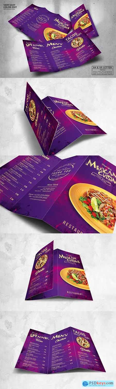 Mexican Food Menu Design A4 & US Letter