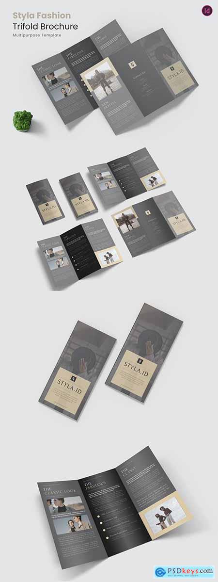 Styla Fashion Trifold Brochure