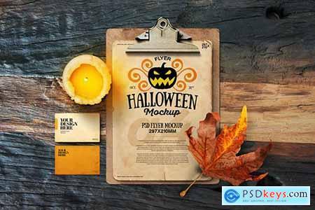 Halloween Autumn A4 Retro Vintage Flyer Clipboard