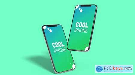 Stylish Floating Iphone - Mockup