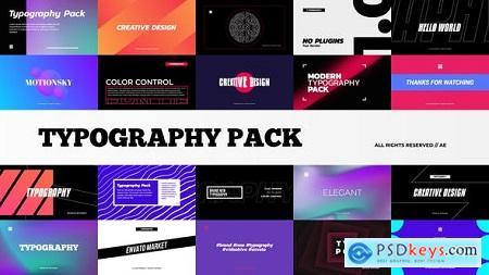 Stylish Typography Pack 29014567